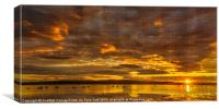 Scottish Sunset on the Clyde, Canvas Print