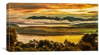 Sunset over Arran and The Cumbraes, Canvas Print