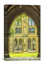 Glasgow University Cloisters, Canvas Print