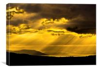 Scottish Island Sunset, Canvas Print