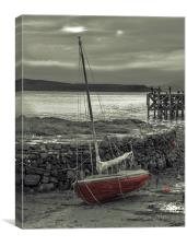 Low Tide at Portencross, Canvas Print