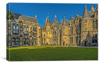 Quadrangle at Glasgow University, Canvas Print