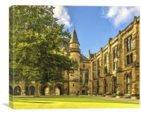 Glasgow Uni Quadrangle, Canvas Print