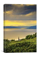 Kyles of Bute from Largs, Canvas Print