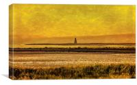 Sunset over Horse Island Ardrossan, Canvas Print
