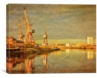 Shipbuilding on the River Clyde, Canvas Print