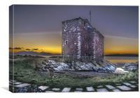 Portencross Castle at Sunset, Canvas Print