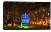 Glasgow University at Dusk, Canvas Print