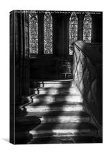 Sunlight on Stairs Glasgow Cathedral, Canvas Print