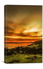 Scottish Sunset at Largs, Canvas Print
