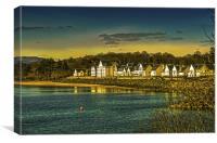 Moonlight at Kip Marina Scotland, Canvas Print