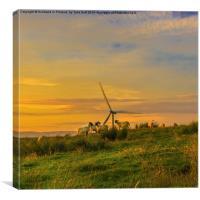 Dusk at Whitelee Wind Farm, Canvas Print