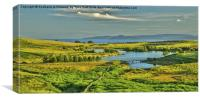 Holy Isle Arran from Fairlie Moor, Canvas Print