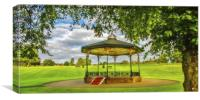 Bandstand in Strathven Park, South Lanarkshire, Canvas Print