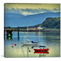 Sunrise on the Clyde , Canvas Print