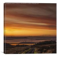 Clydeport Terminal from Fairlie Moor, Canvas Print