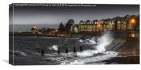 Stormy  Day at Largs, Canvas Print