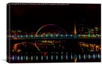 Bridges over River Clyde, Canvas Print