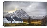 Black Rock Cottage Glencoe, Canvas Print
