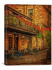 Hanoi Bike Shop Glasgow, Canvas Print