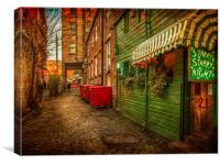 Ruthven Lane Glasgow, Canvas Print