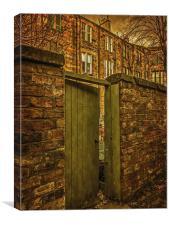 A Glimpse Through The Gate, Canvas Print
