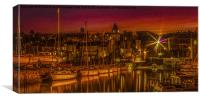 Qeensferry Harbour At Sunset, Canvas Print