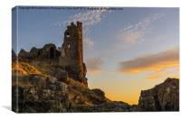 Sunset Over Dunure Castle, Canvas Print