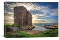 Portencross Castle In The Gloaming, Canvas Print