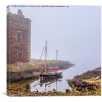 Portencross In The Mist, Canvas Print