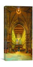 Inside Paisley Abbey, Canvas Print