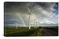 Wind Farm & Rainbow, Canvas Print