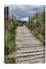 Boardwalk, Gwithian, Cornwall, Canvas Print