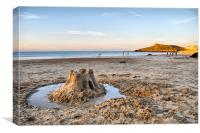 At the end of the day - St Ives, Cornwall, Canvas Print