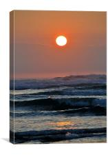 Sunset over the Sea, Canvas Print