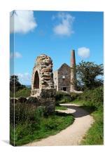 Wheal Peevor Engine House, Redruth Cornwall, Canvas Print