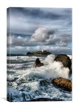 Godrevy Lighthouse, St Ives Bay, Cornwall , Canvas Print