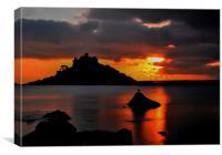 Sunset, St Michael's Mount, Canvas Print