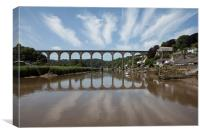 Calstock Viaduct, River Tamar, Canvas Print