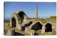 The Old Calciner, Botallack, Cornwall, Canvas Print
