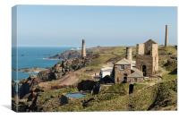 Levant Mine, Pendeen, West Cornwall, Canvas Print