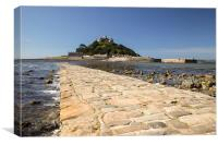 Low Tide, St Michael's Mount, Cornwall, Canvas Print