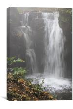 Misty Waterfall, Canvas Print