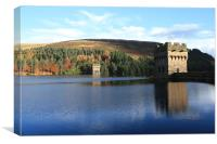 Derwent Dam Reflection, Canvas Print