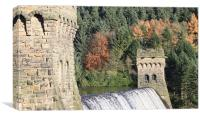 Derwent Dam Overflow, Canvas Print