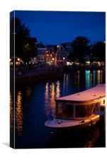 Amsterdam Nighttime, Canvas Print