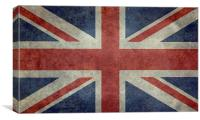 Union Jack - Authentic 3:5 scale, Canvas Print