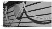 Lifeboat rope shadows, Canvas Print