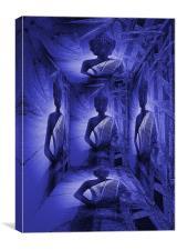 Buddha 3D, Canvas Print