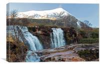 Highland Waterfall Ardessie, Canvas Print